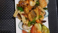 #C4 Talay pad powk tak, mixed seafood in spicy sauce