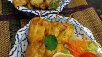 #5 Chicken Satay and #10 Tempura Mixed Veg
